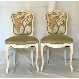 19th Century Louis XV Château d'Amboise Parcel Gilt Velvet & Tapestry Chairs - a Pair Preview
