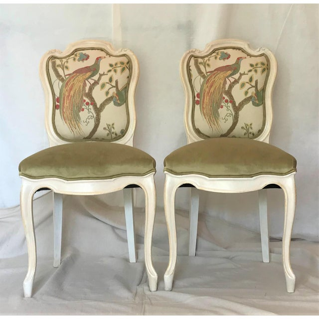 These handsome Louis XV style chairs date from the early to mid-19th Century and were crafted with mortise and tenon...