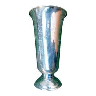 Vintage Silverplate Vase For Sale