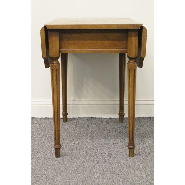 20th Century Traditional Columbia Manufacturing Mahogany Pembroke End Table For Sale - Image 11 of 13