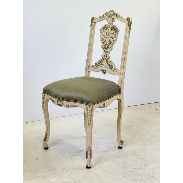 Italian Parcel Gilt Vanity Chair For Sale - Image 11 of 12