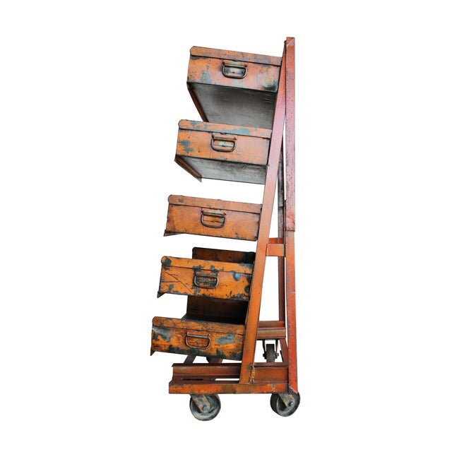 Industrial A-Frame Machinist Cart For Sale - Image 3 of 3