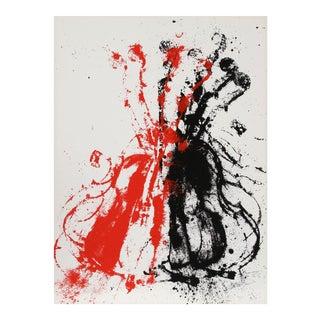Violents Violin II, Abstracted Violin Silkscreen by Arman