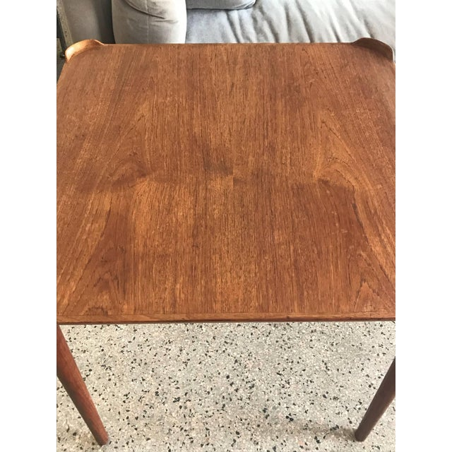 Brown 1950s Mid-Century Modern Finn Juhl for Baker Teak Card Table For Sale - Image 8 of 10