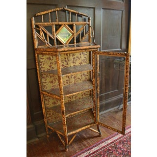 19th Century Vintage Bamboo & Glass Cabinet Preview