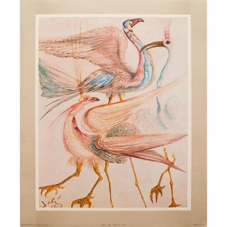 "1952 Dali, Original Period ""Birds"" Lithograph From the Mrs. Albert D. Lasker Collection For Sale"