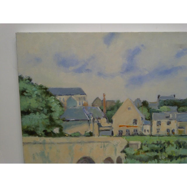 """Contemporary 20th Century Contemporary Original Framed Painting on Canvas, """"The Village"""" by Frederick McDuff For Sale - Image 3 of 7"""