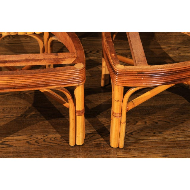 Jaw-Dropping Unique Pair of Custom-Made Palm Frond Chairs, circa 1950 For Sale - Image 9 of 13
