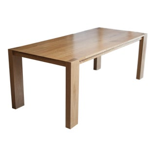 Modern Oak Dining Table For Sale