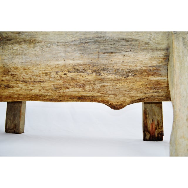 Antique Primitive Log Bench - Image 10 of 10