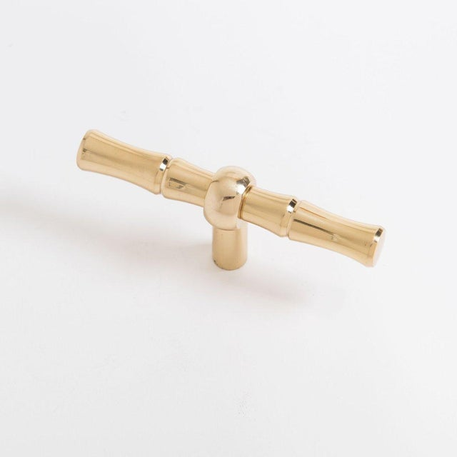 """Addison Weeks Bamboo 4.30"""" Pull - Polished Brass For Sale - Image 4 of 4"""