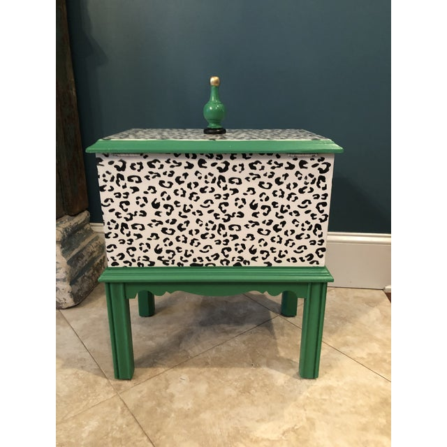 Lane Furniture Leopard Motif Black and White Chest For Sale - Image 4 of 10
