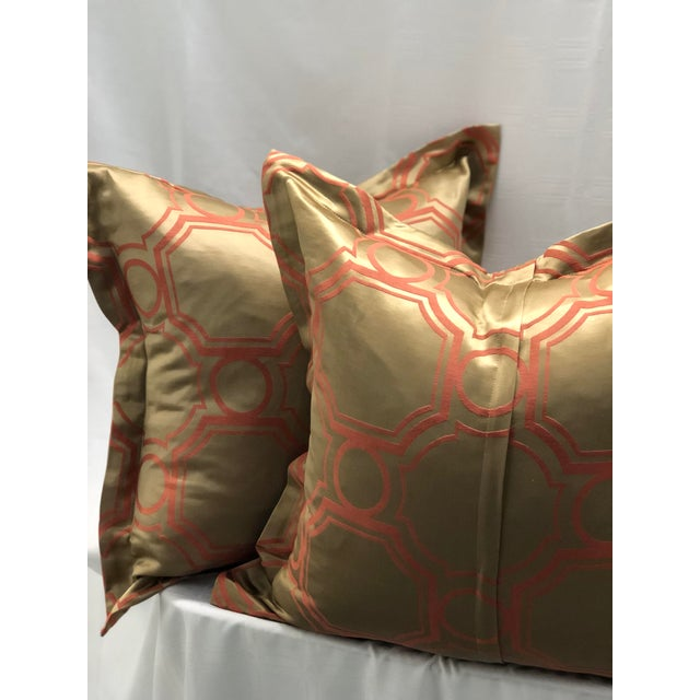2010s Pair of Jim Thompson Flange Edge Pillows For Sale - Image 5 of 8