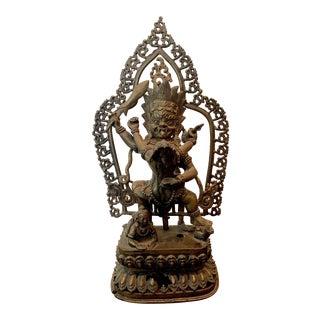 Tibetan Cast Bronze Statue of Yamantaka For Sale