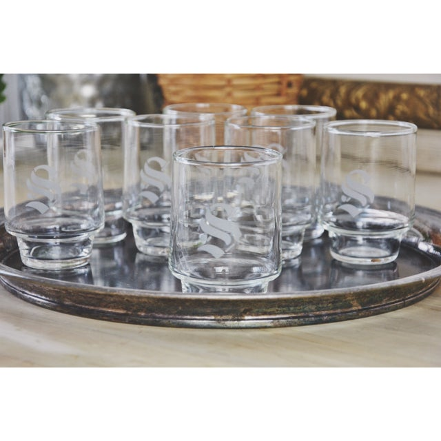 "Vintage ""S"" Monogram Cocktail Cordials - Set of 8 - Image 3 of 5"