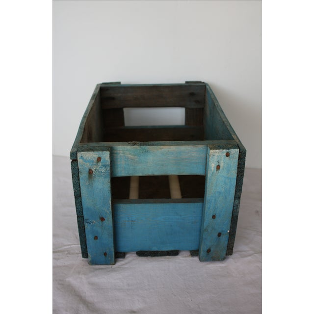 Blue Distressed Europa Rex Bottle Crate - Image 4 of 5