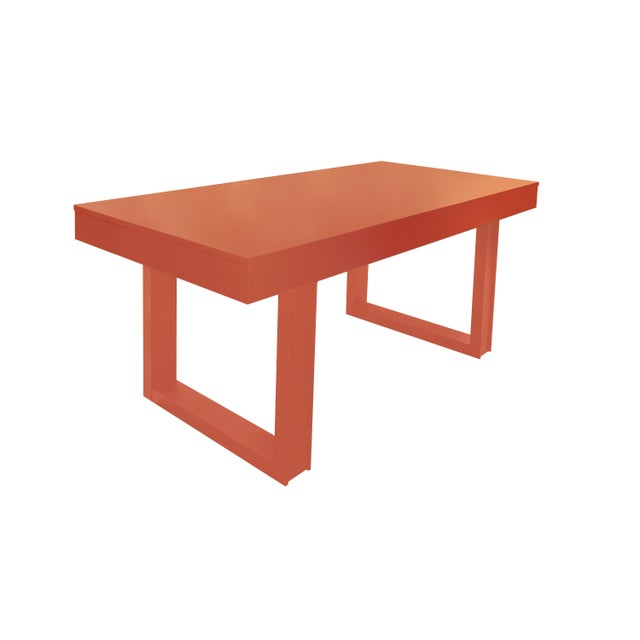 Mid-Century Modern Mid-Century Modern Luxury Desk for Home Office From Garden Street in Coral For Sale - Image 3 of 5