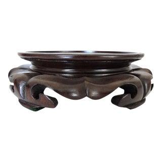 Vintage Oriental Round Rosewood Display Stand