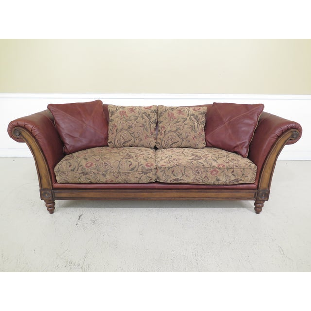 Modern Lloyds Leather & Upholstered Rustic Sofa