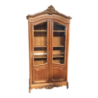 Carved French Armoire For Sale