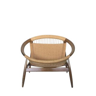 20th Century Danish Modern Ringstol by Illum Wikkelso Lounge Chair For Sale