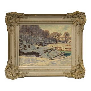 Original Winter Landscape Painting by Foto Spiro Tomev For Sale