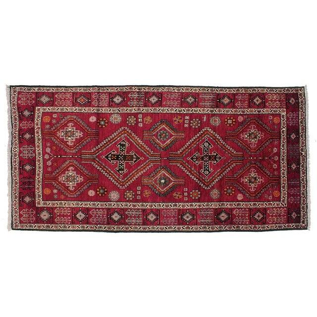 "Vintage Persian Kurdish Rug - 5'2"" X 10'5"" For Sale"