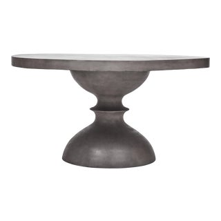 Spindle Dining Table in Dark Gray