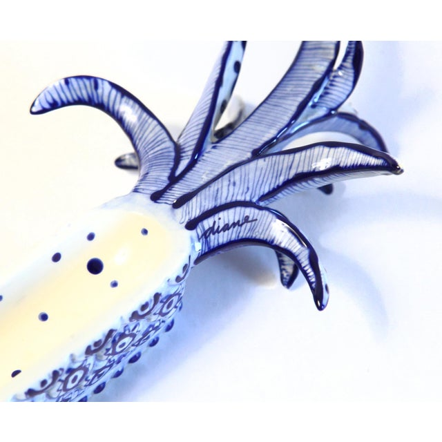 White & Blue Pineapple Catchall - Image 5 of 8