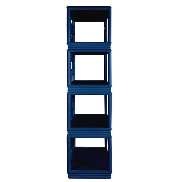 Not Yet Made - Made To Order Tibet Etagere - Navy Blue For Sale - Image 5 of 7