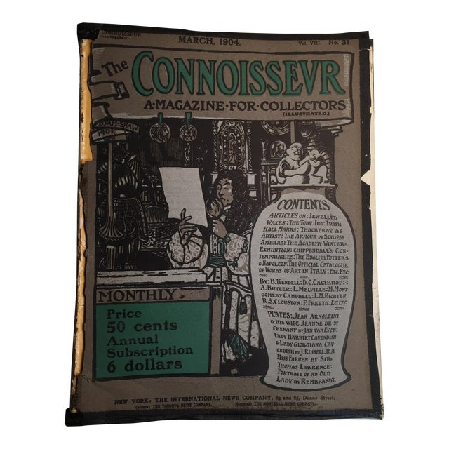 The Connoisseur 1904 Antiques and Collectors For Sale