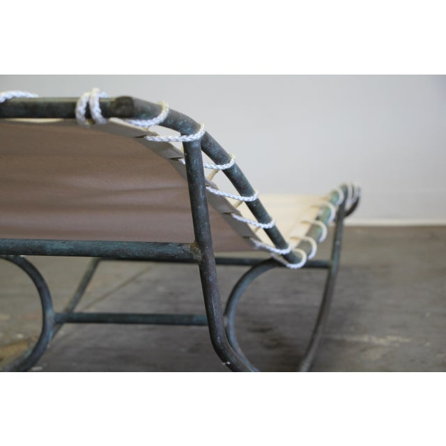 Early Walter Lamb Bronze Rocking Chaise For Sale - Image 12 of 13