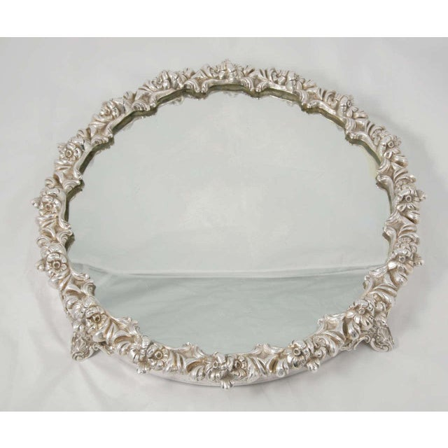 Silver and glass Victorian plateau, circa 1850. Beautiful and ornate, this can be used as a centrepiece for any dining...