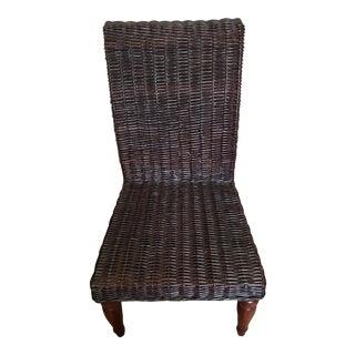 Restoration Hardware Black Wicker Chair For Sale