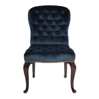 Mid 20th Century Louis XV Style Tufted Side Chair For Sale