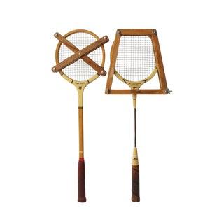 Vintage Slazenger Badminton Rackets - A Pair