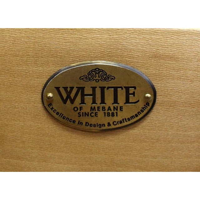 Mid-Century Modern White Lacquer Brass Pulls Bachelor Chests - a Pair For Sale - Image 10 of 11