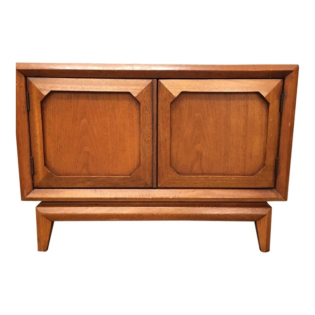 Broyhill Mid-Century Premier Facet Nightstands - A Pair - Image 1 of 4