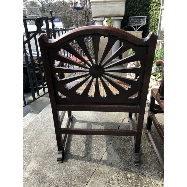 Fine 18th Century English Mahogany Hall Chairs With Oval Cane Seats, a Pair For Sale In Atlanta - Image 6 of 13