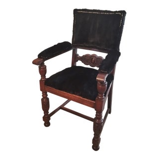 20th Century Boho Chic Real Mink Fur Arm Chair For Sale