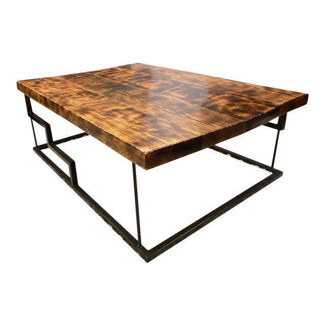 Modern Maple and Oak Wood Coffee Table For Sale