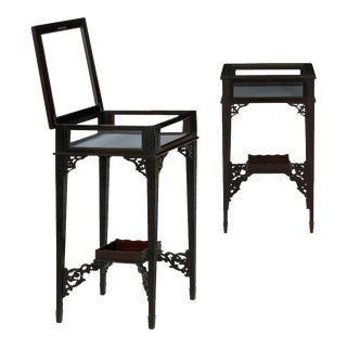 English George III Gothic Style Accent Side Tables Vitrines Circa 1890 -A Pair For Sale