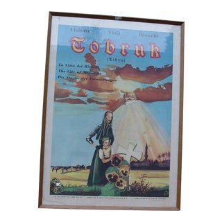 """1940s Vintage Post-WWII """"Visit Libya"""" Poster For Sale"""