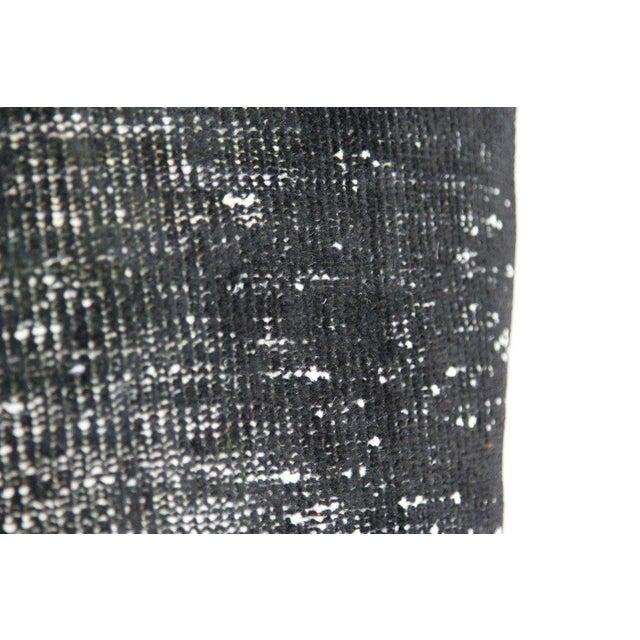 Black Handmade Overdyed Rug Pillows - Pair - Image 4 of 4