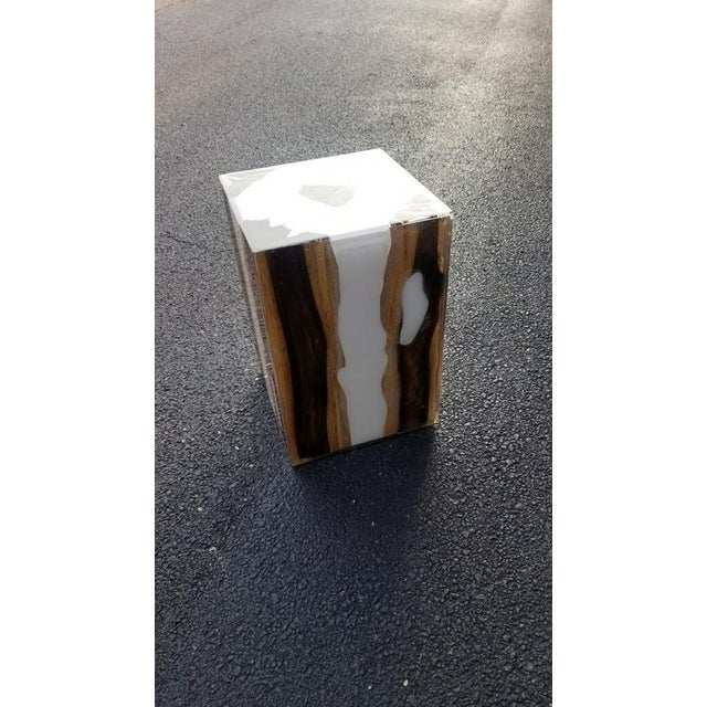 Made Goods Declan Wooden Stool With Metal Inlay For Sale In Chicago - Image 6 of 6