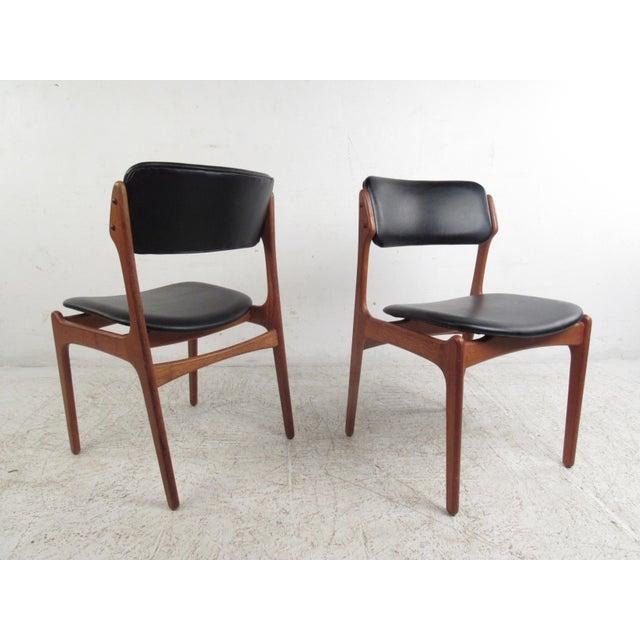 Vintage Erik Buch Scandinavian Modern Dining Chairs - Set of 6 - Image 5 of 11