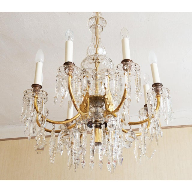 Exceptional cut crystal chandelier by jl lobmeyr decaso cut crystal chandelier by jl lobmeyr image 2 of 11 aloadofball Image collections