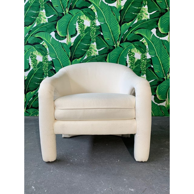 Vladimir Kagan Pair of Vladimir Kagan Sculptural Club Chairs For Sale - Image 4 of 11