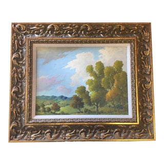Blue Ridge Mountains Landscape Painting Attr. B B Moore For Sale