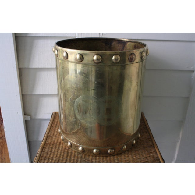 Vintage Mid-Century Chinoiserie Style Brass Planter For Sale - Image 11 of 13